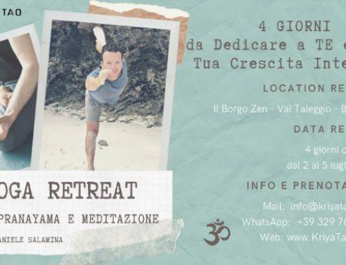 Yoga Retreat dal 2 al 5 luglio 2020