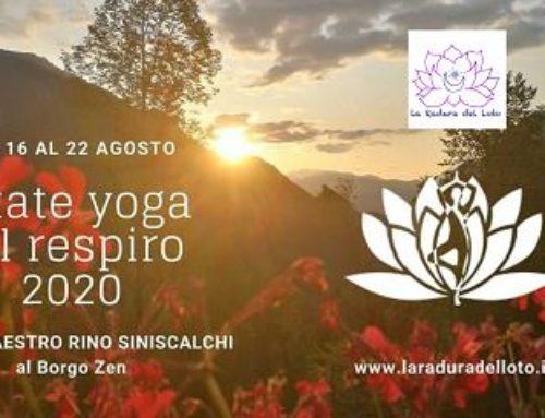 Estate yoga del respiro dal 16 al 22 agosto 2020