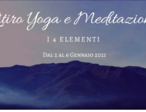 """Ritiro yoga e meditazione """"I 4 elementi"""" dal 2 al 6 gennaio 2021"""